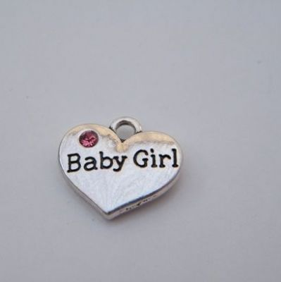 Baby Girl Keyring - Double Charm Style